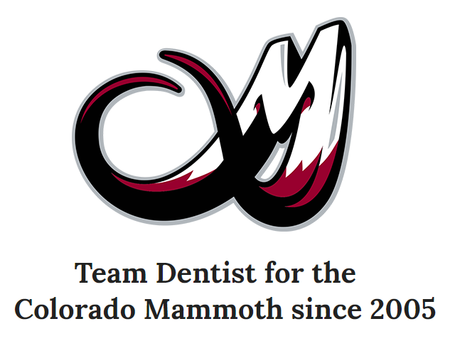 Team Dentist for Colorado Mammoth since 2005